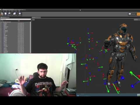 Unreal Engine 4 Kinect 4 Windows v2.0 Plugin, Animated avateering