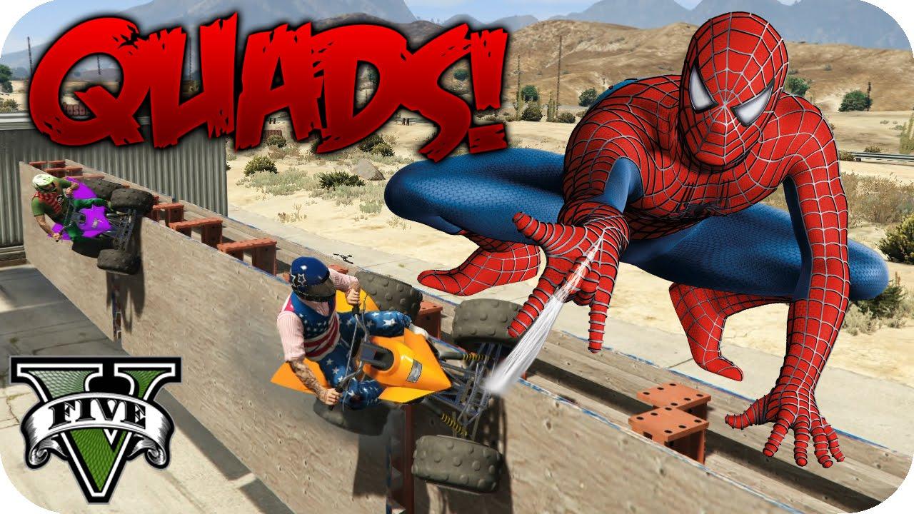 El quad de spiderman 222 gta v online funny race c youtubers por flowstreet youtube - Quad spiderman ...
