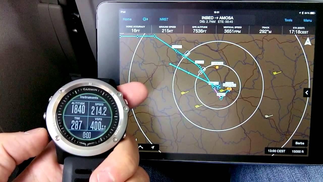 1673843ac82 Garmin D2 Bravo in flight (as pax)
