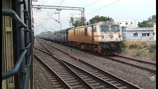 PARALLEL ACTION WITH HOWRAH YASVANTPUR SF EXPRESS | INDIAN RAILWAYS !