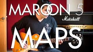 Maroon 5 - maps | electric guitar c...