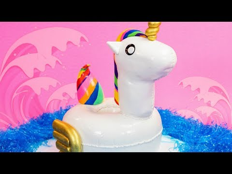 Pool Floatie Or...? A TWIST On Unicorn Cakes | How To Cake It Step By Step