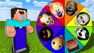 Minecraft Battle: NOOB vs PRO: SCARY ROULETTE CHALLENGE / Animation