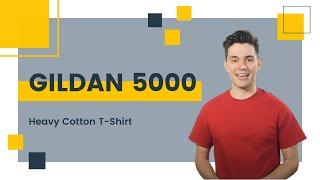 Gildan 5000 Heavy Cotton T-Shirt | Blankapparel.ca