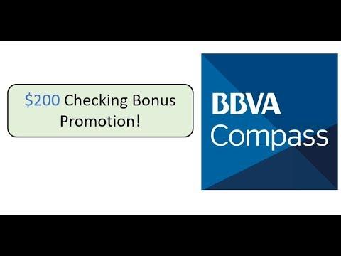 BBVA Compass Checking Promotion: $200 Bonus