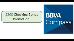 BBVA Compass Checking Promotion: $200 Bonus
