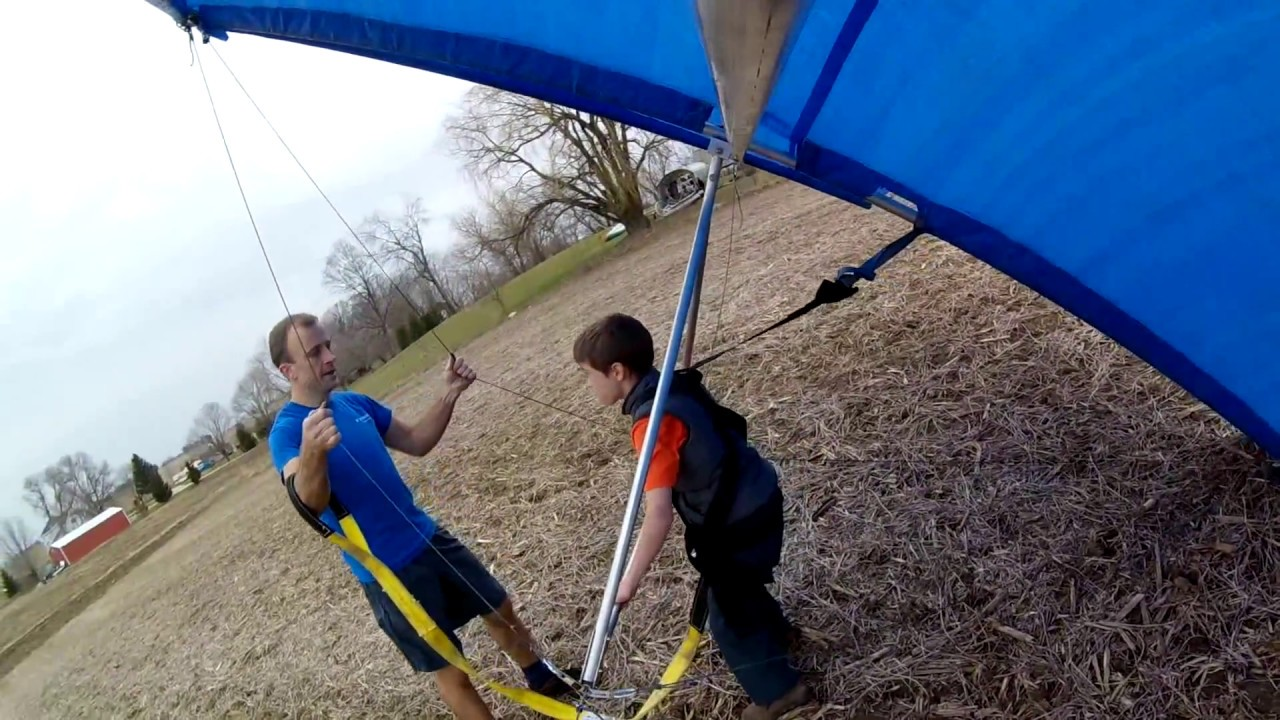 Home built rogallo hang glider