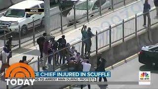 New York Police Chief Injured In Scuffle With Protesters   TODAY