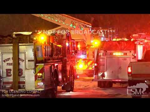 01-15-18 West Memphis, AR- Hotel Fire in rear of Hotel
