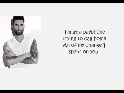 Maroon 5 - Payphone with Lyrics