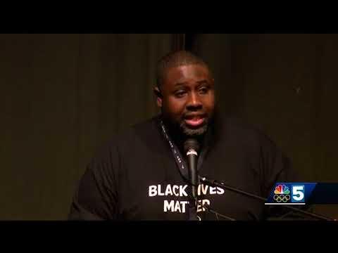 Black Lives Matter flag flies at Burlington High School
