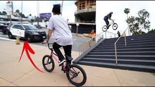 ARIZONA BMX CREW RUNS INTO LAPD!