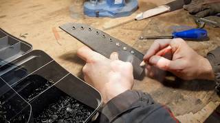 Охотничий нож №70 из K390 bohler, как сделать ножны из Кайдекса/How to make a kydex knife sheath