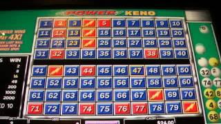 Playing Keno in the Aria Hotel & Casino Las Vegas