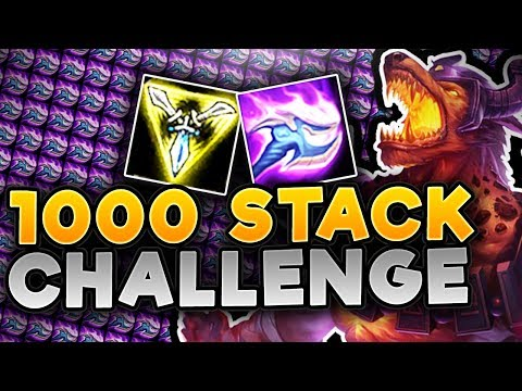 1000 STACK NASUS CHALLENGE! OVER 1000 DAMAGE ON NASUS Q! NASUS TOP GAMEPLAY - League of Legends