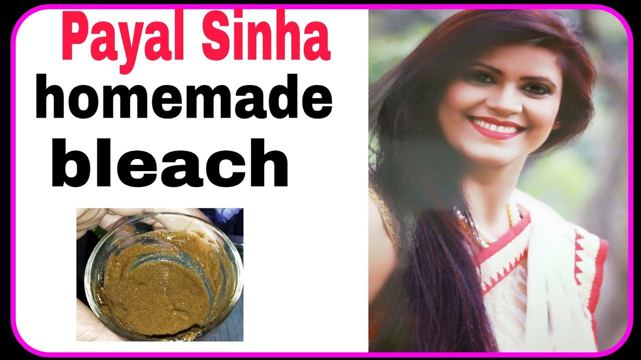 Payal Sinha homemade bleach  Payal Sinha का herbal bleach क्या result  मिलता