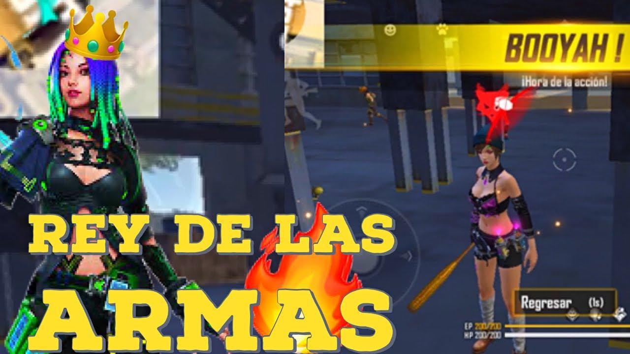 ¡El Rey Soy Yo! 👑 | Mi Primera Partida de ReyDeLasArmas | Garena Free Fire// *Highlights y Skills*🔥
