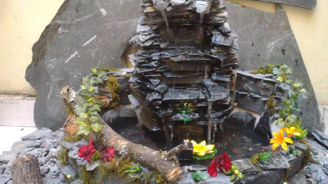 Cascada fuente de agua 40 cm de alto youtube for Fuente cascada agua