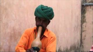 Indian Snake Charmer performing in Jaipur, Rajasthan, India