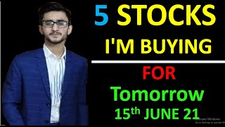 Daily Intraday Calls For Tomorrow   5 Jackpot Intraday Trading Tips   15th June 21 #earnwithme