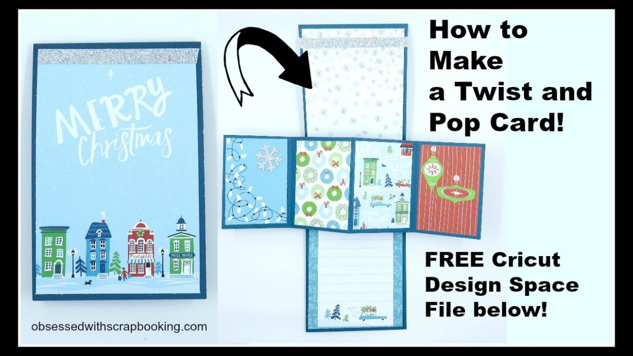 How To Make A Twist And Pop Card 4 X12 Card Base Scored At 6 Other Measurements And Picture For Scoring At 8 Fancy Fold Cards Fun Fold Cards Cricut Cards