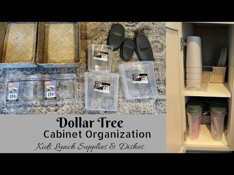 Dollar Tree organization| How I organize Dishes and lunch supplies