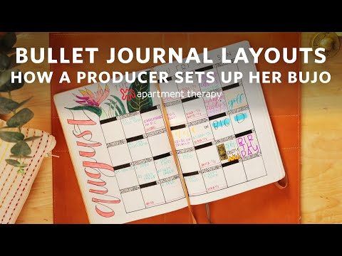 How An Executive Producer Sets Up Her BuJo | Bullet Journal Layouts | Apartment Therapy