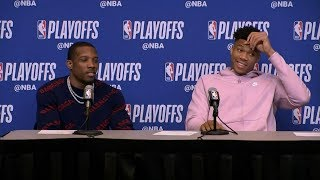 Giannis Antetokounmpo & Eric Bledsoe Postgame Interview - Game 2 | Pistons vs Bucks