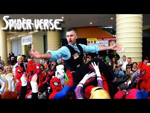 Spider-Man Over 1 Hour of SPIDER-VERSE Mayhem at Conventions! Real Life Superhero Flash Mob