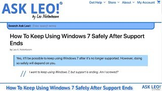 How To Keep Using Windows 7 Safely After Support Ends