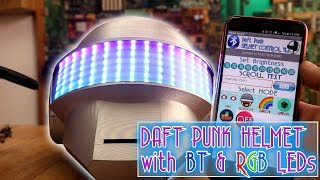 Homemade Daft Punk RGB helmet with Bluetooth