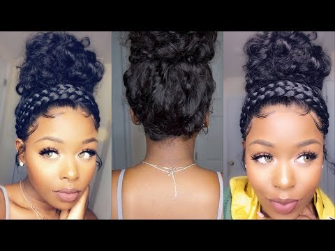 Start to Finish Undetectable Curly High Top Bun Lace Front Wig ft Wowafrican