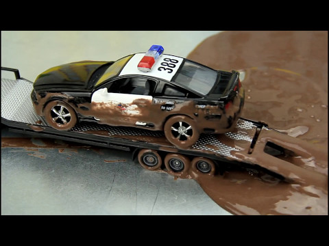 Thumbnail: Police Cars vs Street Racer The Police Cars Stuck in the Mud & Car Wash Video For Kids