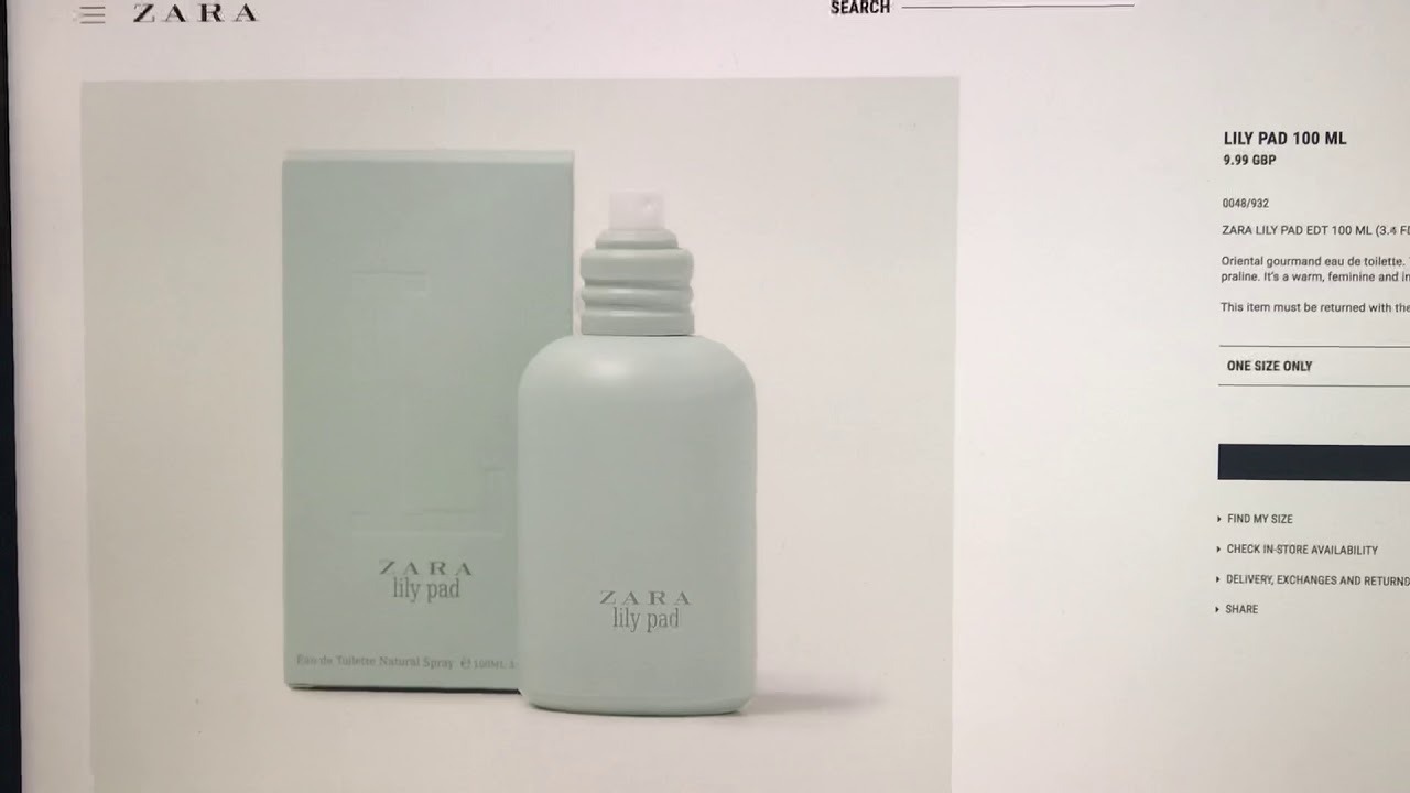 Zara Lily Pad - Ladies Fragrance Review. 😍 - YouTube