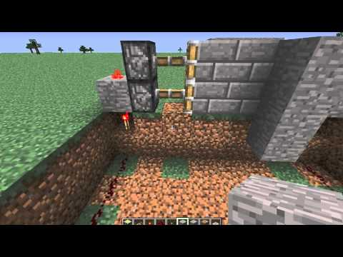 Minecraft Tutorial - Easy And Compact Piston Door With Buttons