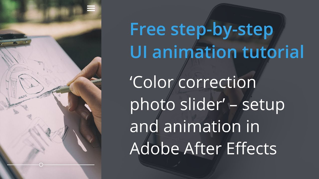 UI Animation After Effects Tutorial: Color Correction Slider