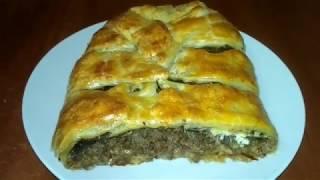 Обалденно вкусный мясной пирог с грибами