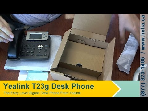 Unboxing the Yealink T23g Deskphone - YouTube