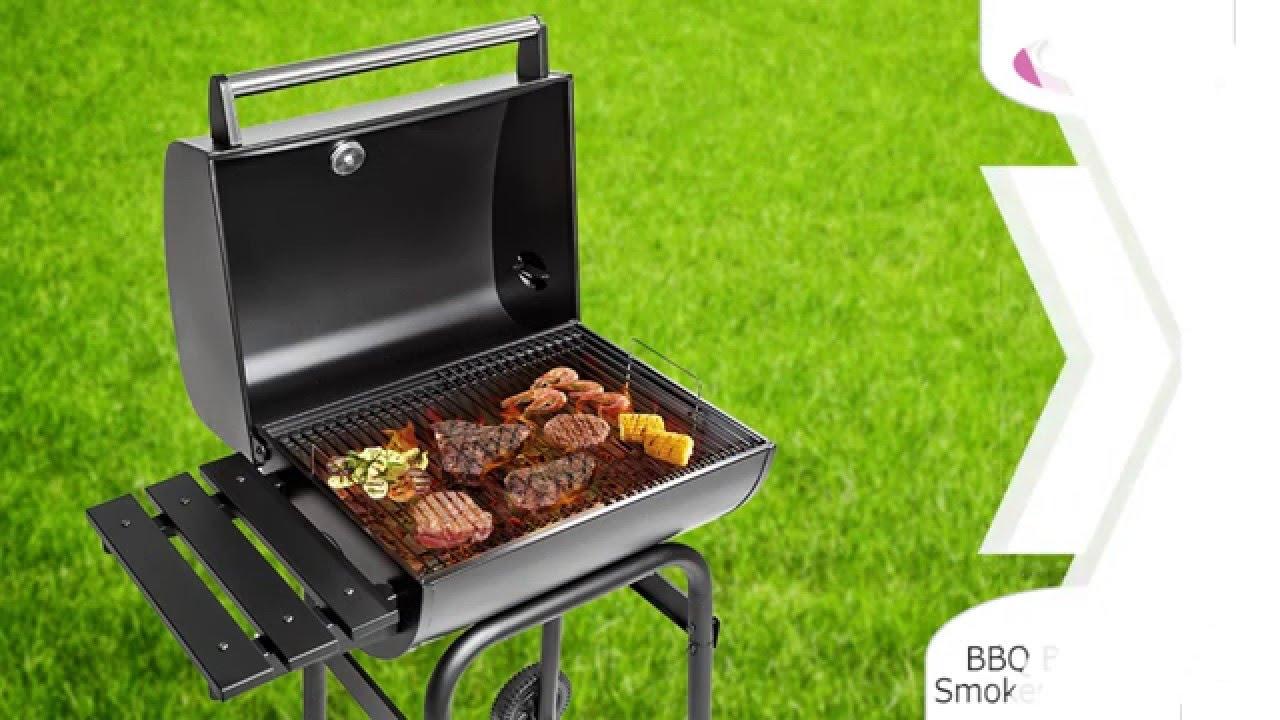 Bbq Met Deksel.Tectake Bbq Barbecue Smoker Met Deksel