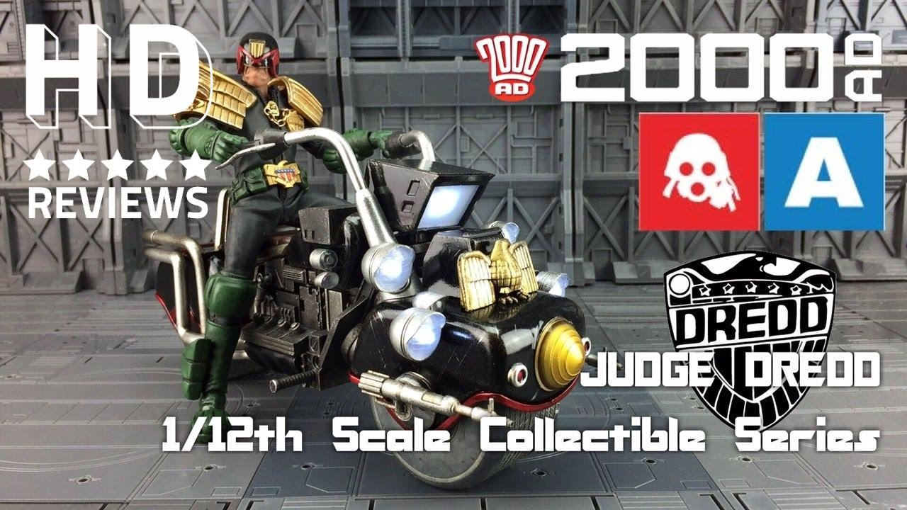 osw.zone ThreeA 3A 1/12th Scale Collectible Series Judge Dredd and Lawmaster 2000AD