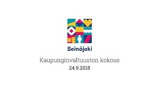 Kaupunginvaltuuston kokous 24.9.2018