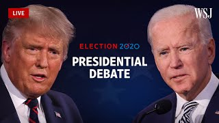 Watch Live: President Trump and Joe Biden in Their Final Debate