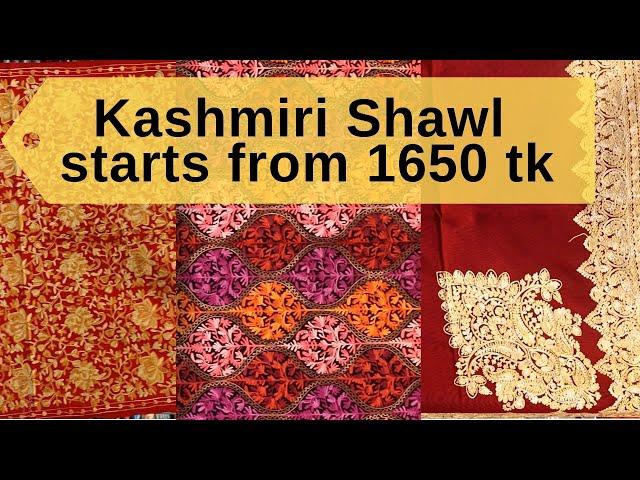 Kashmiri Shawl Cheap Price In Bd    1650 tk    ??????? ???? ????????  Pashmina ???    Nibir fashion