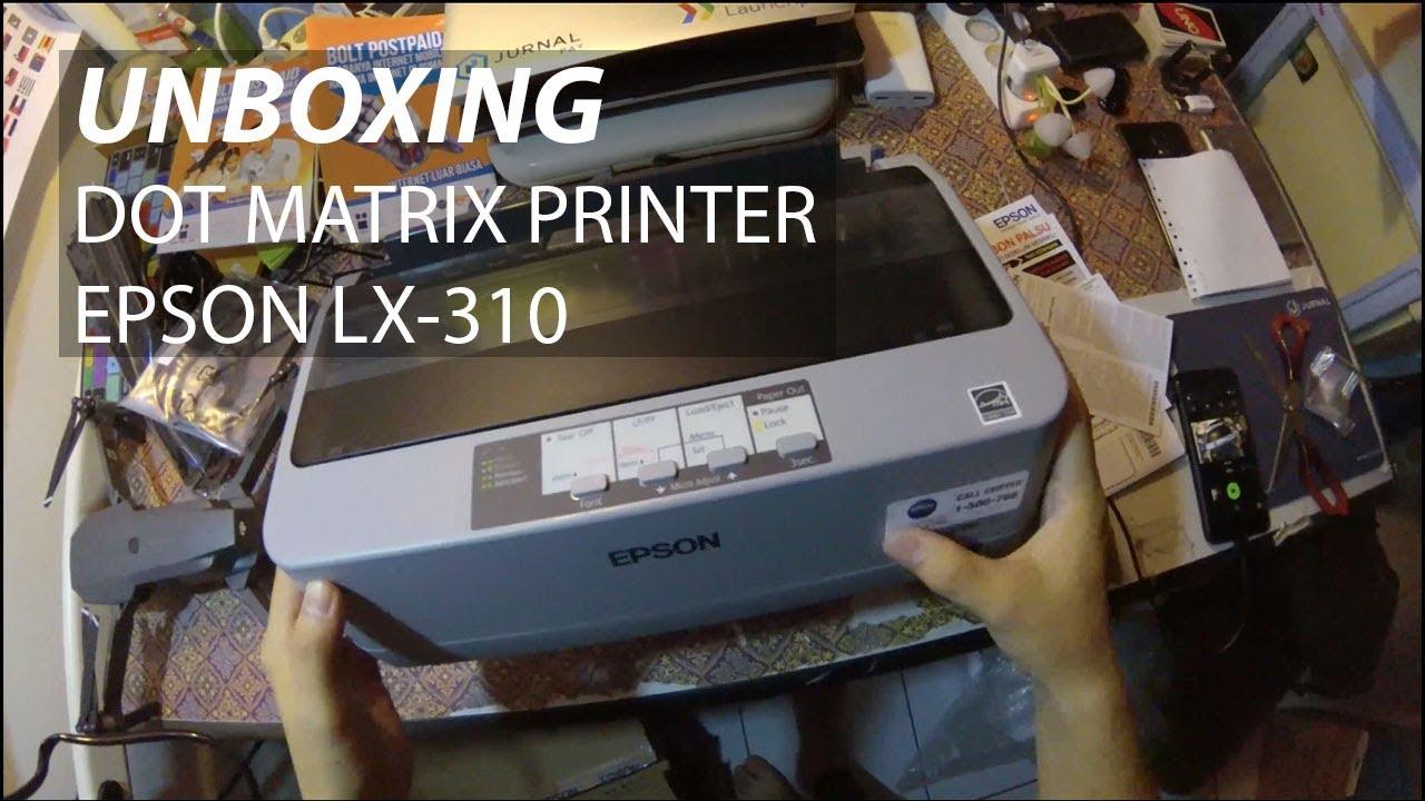 Unboxing Epson Lx 310 Dot Matrix Printer Youtube