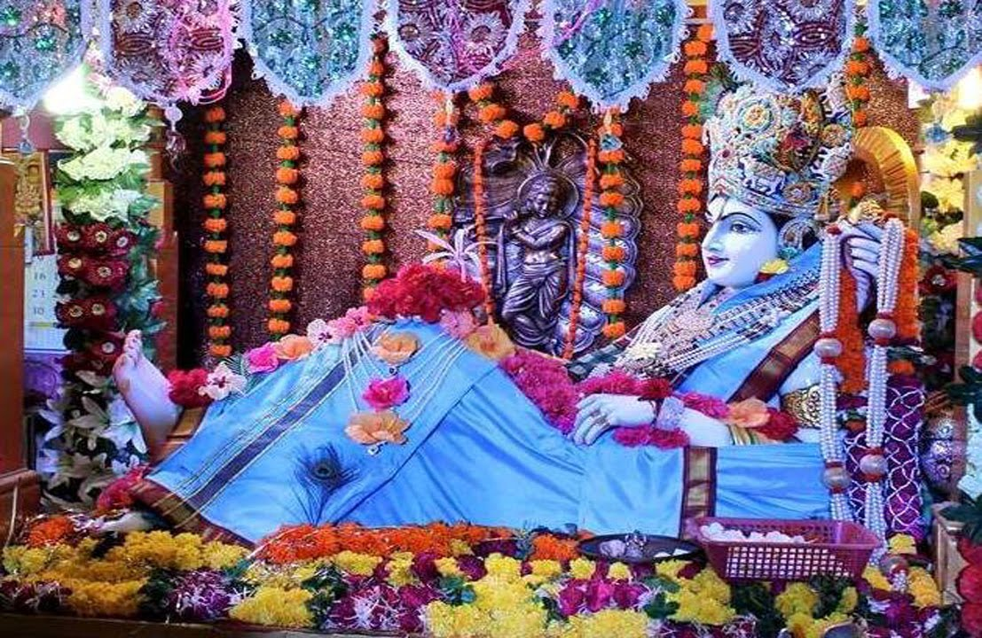 Image result for krishna death in bhalka teerth
