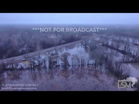 02-23-2018 North Little Rock/Jacksonville, AR Homes Flooding And Drone Footage