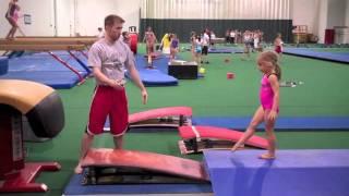Coaching Vault at Gedderts' Twistars Summer Camp 2011
