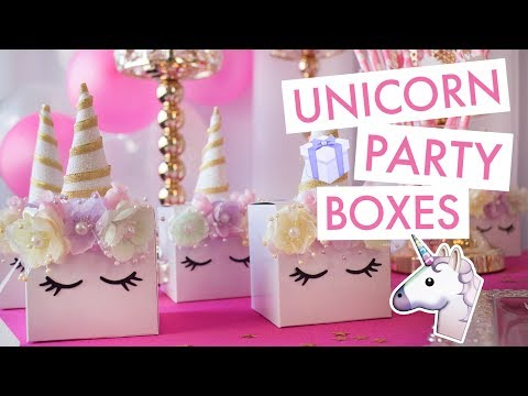Unicorn Party Boxes 🦄   BalsaCircle.com