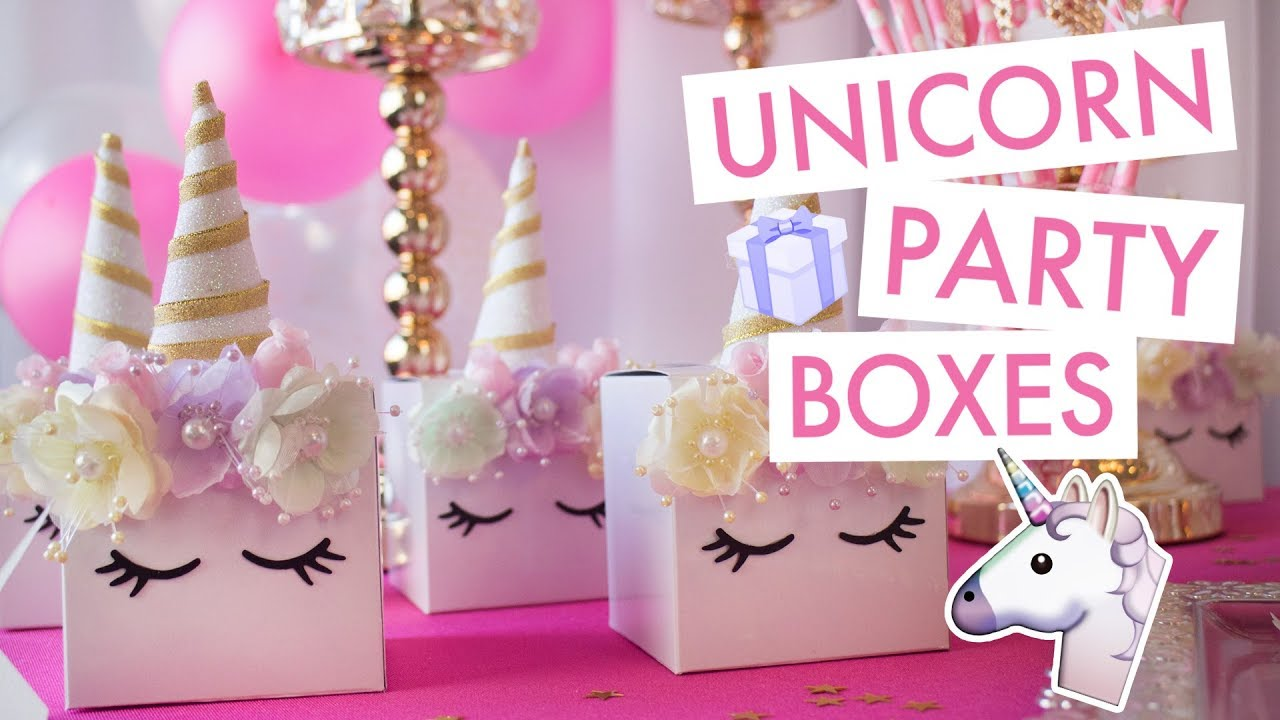 Unicorn Party Boxes 🦄 | BalsaCircle com