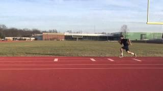4 step long jump training 21 and 1 2 feet
